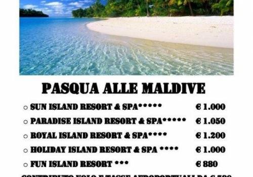 Pasqua alle Maldive